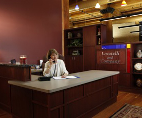 Reception area at Locatelli and Company